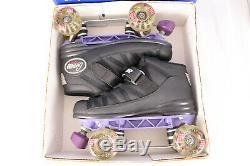 Riedell R 106 Black Carrera Sport Boots Sz 7 Width M IOB Kryptonics Speed Skate