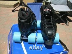 Riedell R3 CAYMAN Roller Derby Speed Skates Size 6 Black Quad