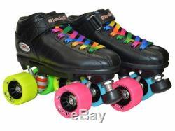 Riedell R3 Rainbow Evolve Quad Roller Derby Speed Skate LE Rainbow Bag Bundle