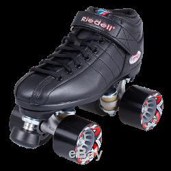 Riedell R3 roller skate quad size 8 black men's fits size 9 women's
