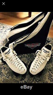 Riedell RS1000 White Speed Skates Mint Condition Size 9