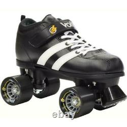 Riedell RW Volt Black Size 7 Quad Roller Skates