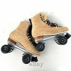 Riedell Red Wing 130 M Roller Skates Suede Sz 8 mens/ women 9-9.5. Sure-Grip