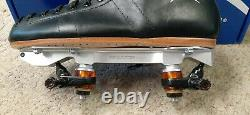 Riedell Roller Skates 495 Leather Boots Powerdyne Neo Reactor Plate Size 10