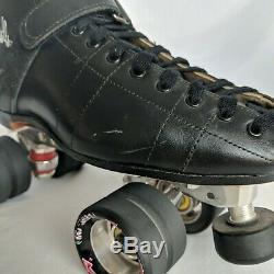 Riedell Roller Skates 695 Size 9 Black Widow Powerdyne Plates Derby Speed