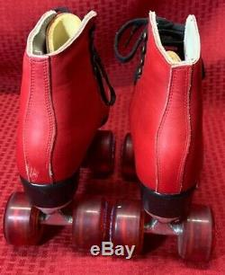 Riedell Roller Skates All RED Leather Boots SIZE 5.5