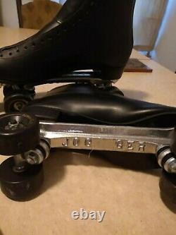 Riedell Roller Skates Black Size 14 Jogger Plates Roller Bones 62mm Wheels