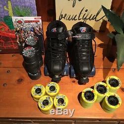 Riedell Roller Skates Bonus Wheels 3 Sets Size 7 Womens