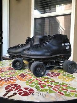 Riedell Roller Skates Size 10.5 Mens Black Derby Sunlite Excellent condition