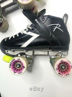 Riedell Roller Skates Size 5 B-AA Roller Derby-Villain Radar Wheels- Rival