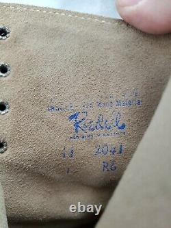 Riedell Roller Skates Size 8 Jogger Sure Grip Leather Tan Suede with Brown Laces