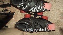 Riedell Roller Skates Speed Black Powerdyne Triton SIZE 8