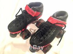 Riedell Roller Skates Unisex Size 5 R3 Limited Edition Black Red