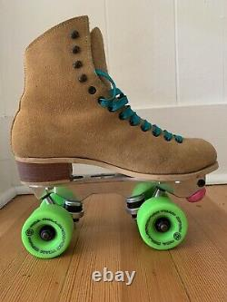 Riedell Roller Skates size 7L Upgraded Avanti Plate Rollerbones 98a