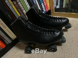 Riedell (SIZE 10) 111 Black Roller Skates Mens Varsity Wheels ridell