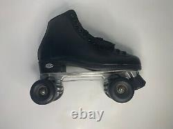 Riedell Shoes Mens Size 9 Style Wave Black Roller Skates-Preowned Good Cond