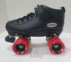 Riedell Skates Dart Roller Skate Black W Red Wheels Men's Size 6 Women's Size 7