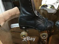 Riedell Skates Mens 7.5 Leather /Rival Plate & Roller Bones Elite 101A (57mm)