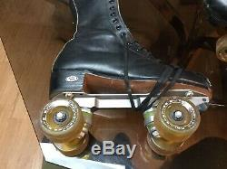 Riedell Skates size 7.5 Rival Plate & Roller Bones Elite 101A (57mm)
