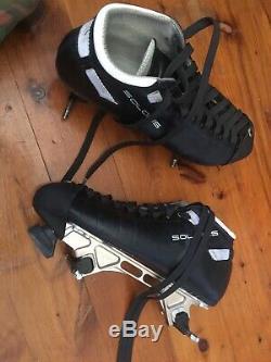 Riedell Solaris + Arius plates roller derby speed quad roller skate