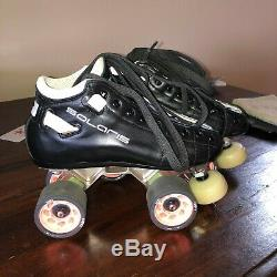 Riedell Solaris Platinum Skates 3.5 C/AA ROLLER DERBY NEW