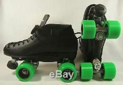 Riedell Spark Skates 122 Men's Black Size 5 Derby Jam Speed Roller Skates New