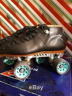 Riedell Torch 395 Roller Skates Revenge Plates Radar Wheels Size 7.5 Mens