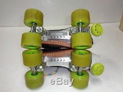 Riedell Torch 495 Roller Derby Skates Sz 7 POison Wheels