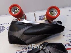 Riedell Trac 711 Roller Skates PowerDyne and Devil Ray Radar Wheels Size 12