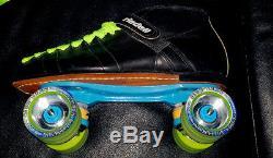 Riedell USA 295 Roller Skates Size 11 Rare Marathon Plates Sure Grip Wheels