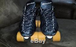 Riedell USA 595 Roller Skates Size 10.5 11 New Sunlite Plates Wicked Lips Wheels