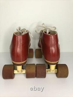 Riedell USA RS-1000 Speedskate Roller Skates With Zinger Speed Wheels Size 6