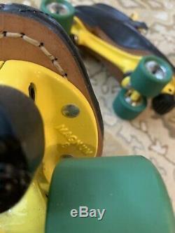 Riedell USA Red Wing Vintage Men's Size 11 Roller Skates Sure Grip Magnum 8