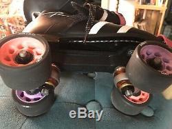 Riedell Vendetta Roller Skates Black 265 Boot, Size 6, B/AA- Roller Derby