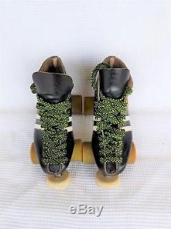 Riedell Vintage 265 Roller Skates, Black leather size 6 Women's