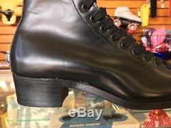 Riedell Vintage Quad Roller Skate 192 Boot Black Size 4