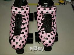 Riedell pink Roller Skates size 7 pink and black