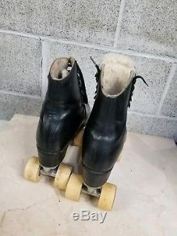 Riedell red wing roller skates size 10 douglass snyder custom built skates