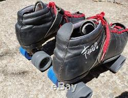 Riedell roller skates size 11 Leather USA MADE Sonar Bones Powerdyne Speed Derby