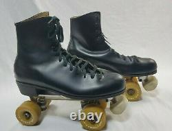 Riedell unisex Roller Skates SZ 10D chicago 7 Powell V-IV Bones 62mm wheels