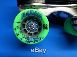 Roller Skates, Riedell 265 Wicked, Powerdyne, Radar, Mens 5, Womens 6, Mint