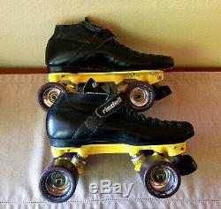 Roller Skates, Riedell 695, Yellow Magnum, Hyperjives, Mens 8.5, Womens 9.5 Nice