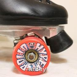 Roller Skates Riedell Sz 8 121 Boot Sure Grip Super X 6 Red Hyper Rollo 62