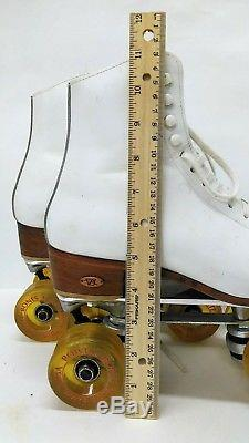 Roller Skates Used Ladys Size 8 1/2 Narrow Riedell Boots- Sure Grip Classic