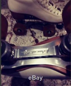 Roller Skates Womans 6.5 Riedell 297 Power Dyne Revenge Aluminum Plates Artistic