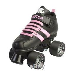 Size 6 Riedell WFTDA Skate Black and Pink Roller Derby Entry Level Free Postage