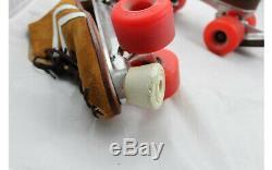 Skates Men 8 M Riedell Kyrptonics Roller Super X Sure Grip Brown SUEDE Vintage