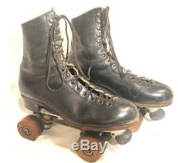 Snyder Super Deluxe plates Riedell boots roller skates size 9