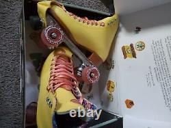 Strawberry Lemonade Moxi Beach Bunny roller skates size 9. Original Packaging