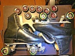Used Douglas Snyders Custom Built Black Riedell Roller Skates Size M 11 E H